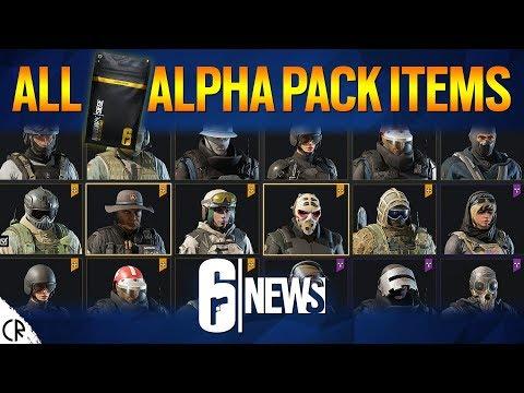 All 753 Alpha Pack Items - Wind Bastion - 6News - Tom Clancy's Rainbow Six Siege