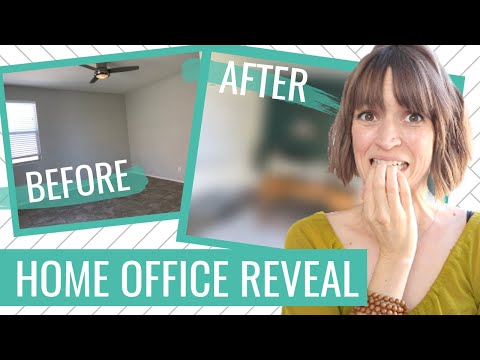 HOME OFFICE INSPIRATION + TOUR: Before, During, and After My Mid-Century Home Office Makeover