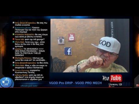 VGOD Pro DRIP - VGOD PRO MECH  Live Review