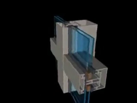 Installux Curtain Wall Section 3D Animation