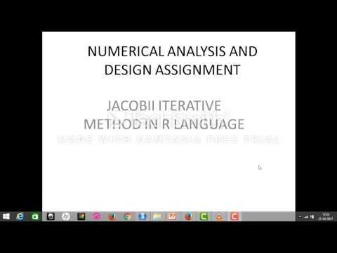 jacobii iterative method in R programing language