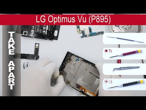 How to disassemble 📱 LG Optimus Vu P895, Take Apart, Tutorial