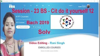 Era 2019 Session 23 BS Cit Do it Yourself 12
