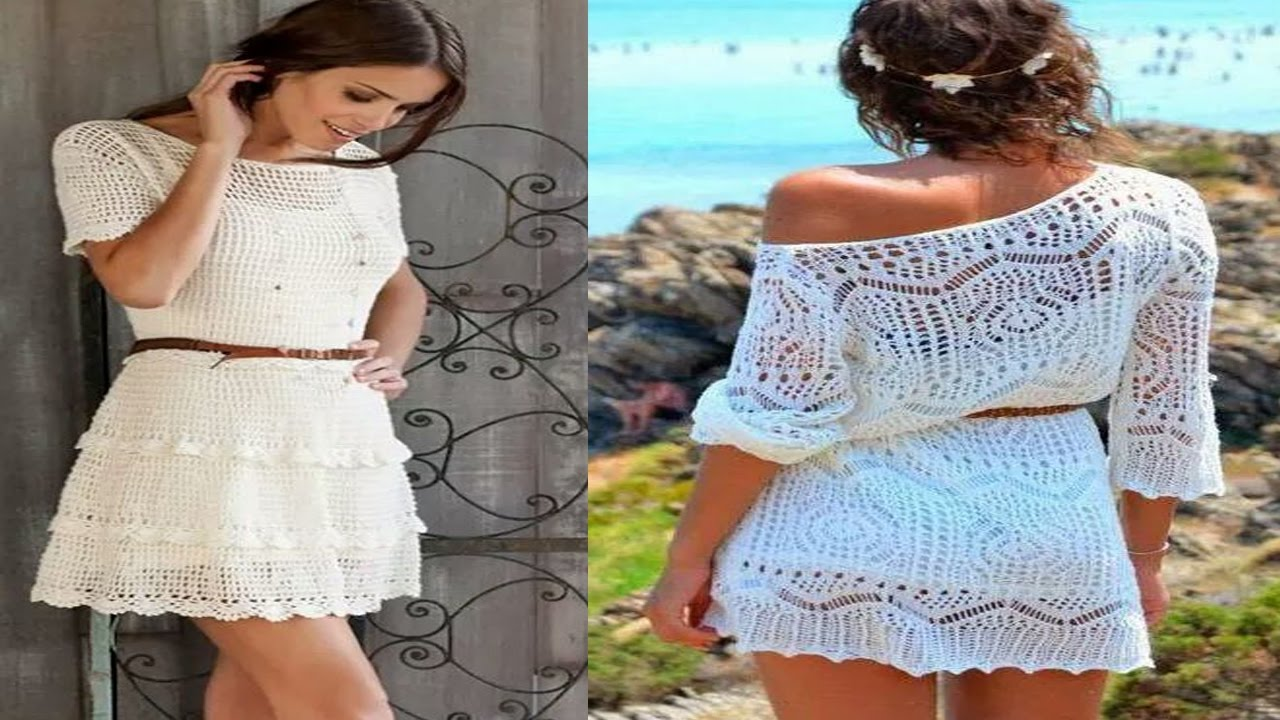 Vestidos tejidos a crochet para verano