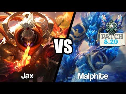 Vidéo d'Alderiate : [FR] JAX VS MALPHITE - LA POIGNE SUR MALPHITE - 8.20 - DIAMANT 1
