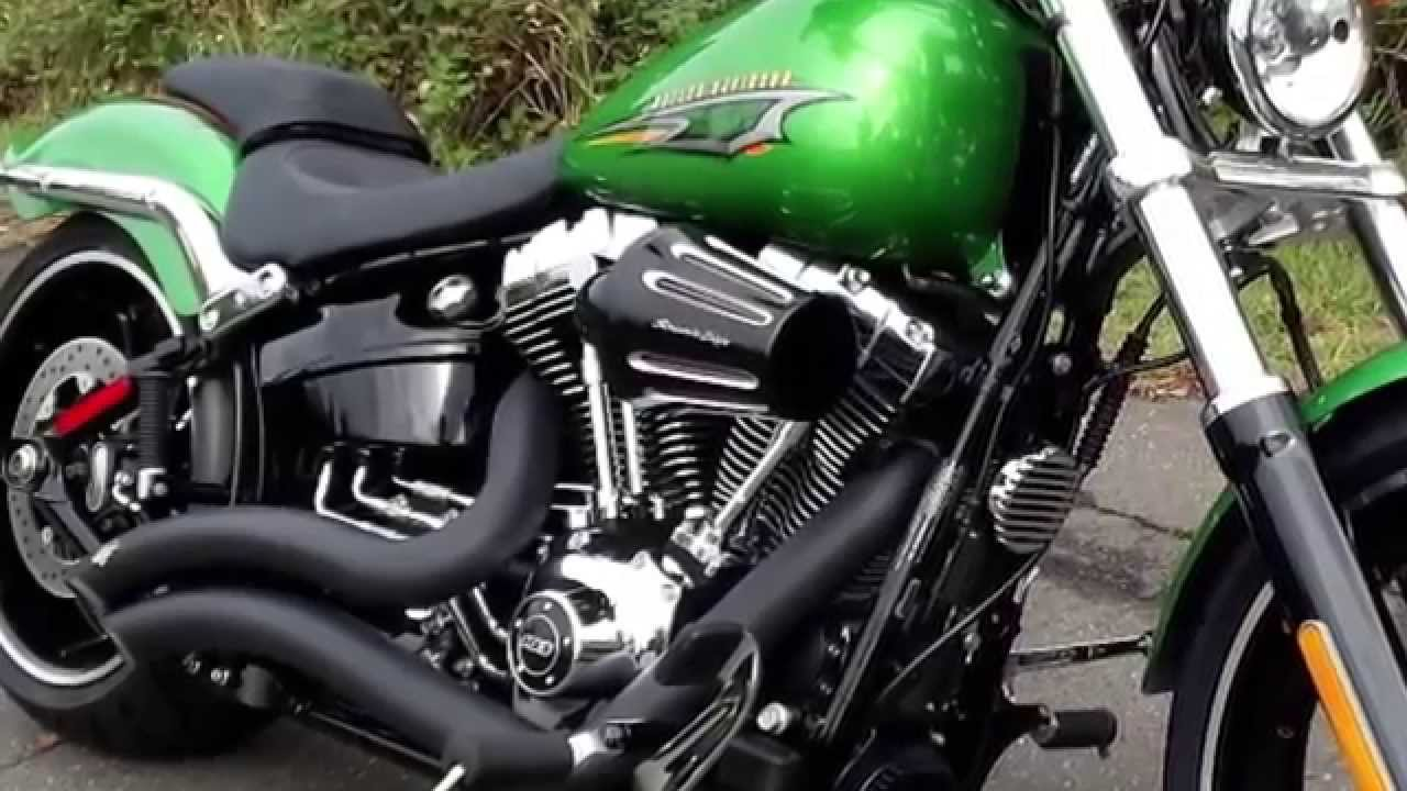 2015 harley davidson® custom breakout with vance and hines® pipes