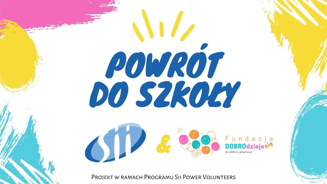 Relacja - WYPRAWKA SZKOLNA - Sii Polska dla dzieci z łódzkich rodzin zastępczych i spokrewnionych