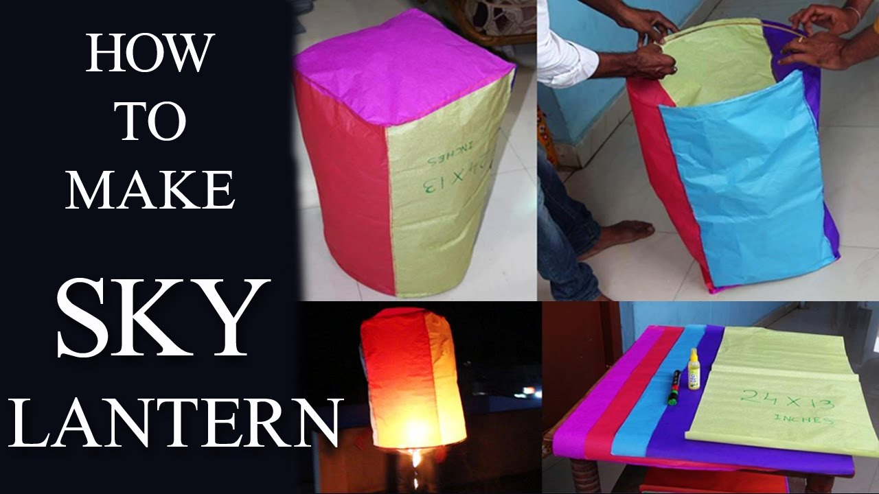 How to make sky lantern at home with papers easily youtube for How to build a chinese lantern