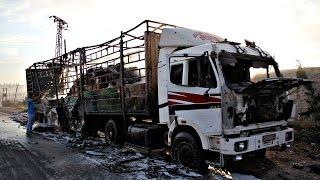 Из-за атаки на гумконвой отправку помощи в Сирию приостановили (новости)