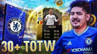 91 IF HAZARD IN A PACK!! 30+ TOTW PACKS!! FIFA 18