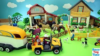 Playmobil Horse Stable and Farm Animals Barn Fun Toys For Kids