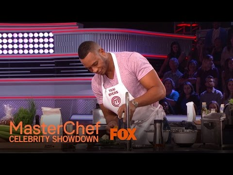 Trai Byers Has A CookOff With Gregg Leakes  MASTERCHEF CELEBRITY DOWN
