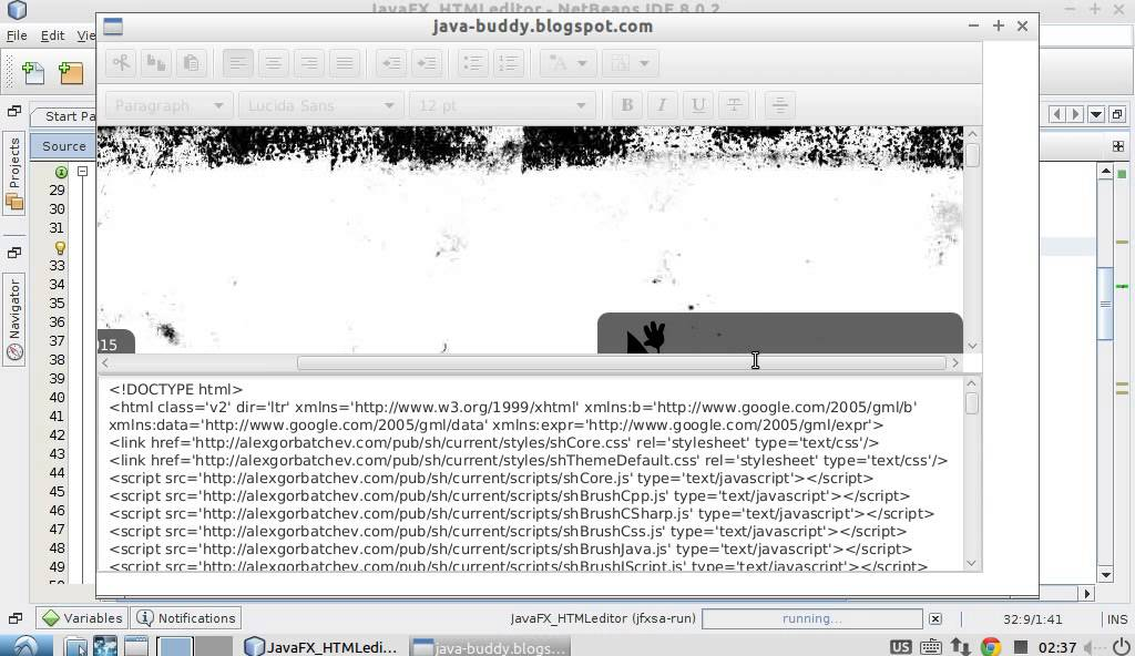 Java-Buddy: JavaFX 8 HTMLEditor example, load content from URL