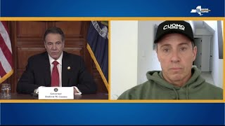 Coronavirus patient Chris Cuomo joins brother NY governor Andrew's press conference remotely