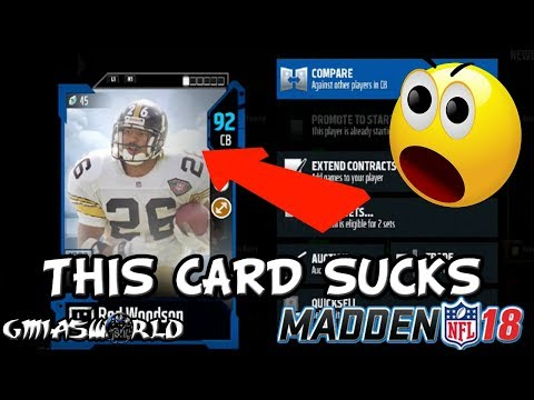 MADDEN 18 PRO TIPS: ROD WOODSON SUCKS & HE GETS RAGE SOLD IN COLD BLOOD IN MUT 18 GAMEPLAY