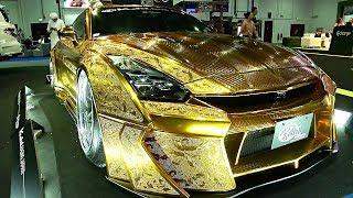 Позолоченный Nissan GT-R и 5000-сильный гиперкар Devel Sixteen показали на Dubai Motorshow (новости)