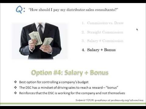 How should I pay my distributor sales consultants?