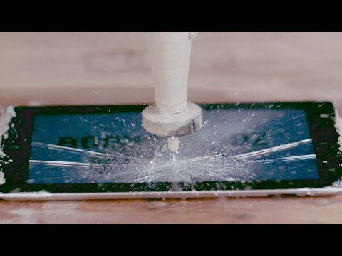 Apple iPad vs 60,000 PSI Waterjet IN SLOW MO