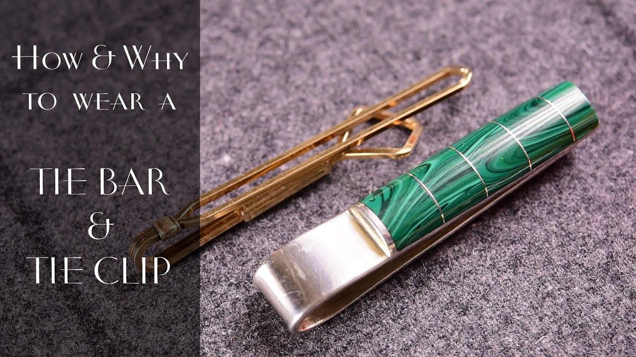 c6925c40f85d Tie Clip & Bar Guide + How & Why to wear them — Gentleman's Gazette