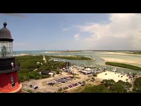 Ponce de Leon Inlet Lighthouse Florida by Drone Video