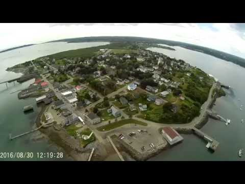 Lubec Maine  downtown water front