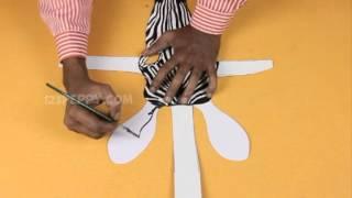 How to Make a Zebra Mask