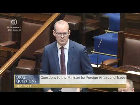 Tommy Broughan TD's PQ with the Minister for Foreign Affairs on Kurdistan