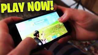 HOW TO PLAY FORTNITE ON iPhone RIGHT NOW! - AND HOW TO SIGN UP AND GET CODES!