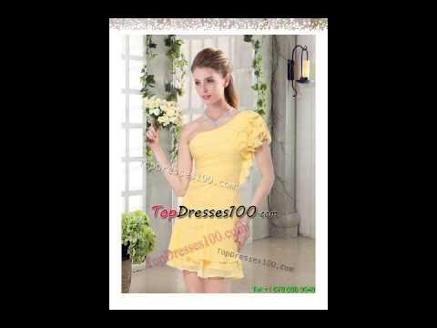2015 Flirting One Shoulder Cap Sleeve Prom Dresses With Mini Length