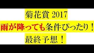 菊花賞2017【最終予想】雨が降っても条件ぴったり!