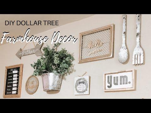 DIY DOLLAR TREE FARMHOUSE WALL DECOR