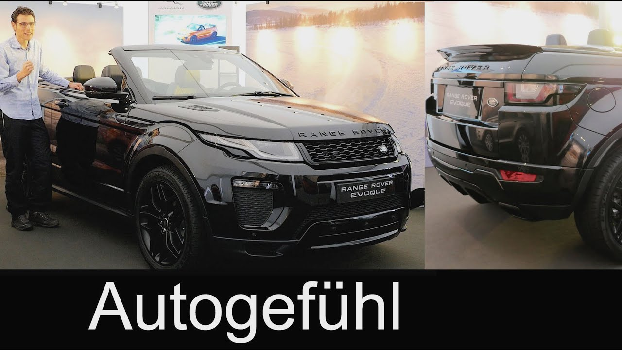 All new Range Rover Evoque Convertible Cabriolet in depth PREVIEW