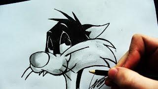 Como Desenhar o Frajola [Looney Tunes] - (How to Draw Sylvester) - SLAY DESENHOS #147