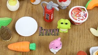 Baby Doll and Little girl review cute Japanese Erasers and Play time Fun