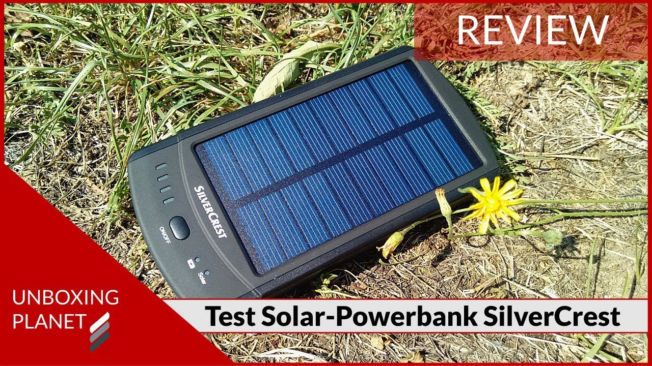 test solar powerbank silvercrest sls2200c2 powerbank mit