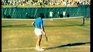 Ilie Nastase and Arthur Ashe