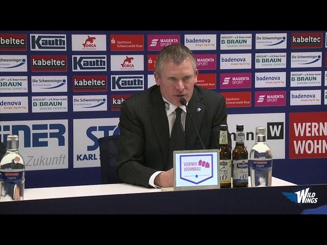Pressekonferenz: Schwenninger Wild Wings-Pinguins Bremerhaven