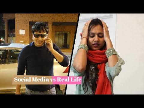 Social Media vs Real Life|Funny Indian Video|Indian Couple Funny|An Indian Abroad HD