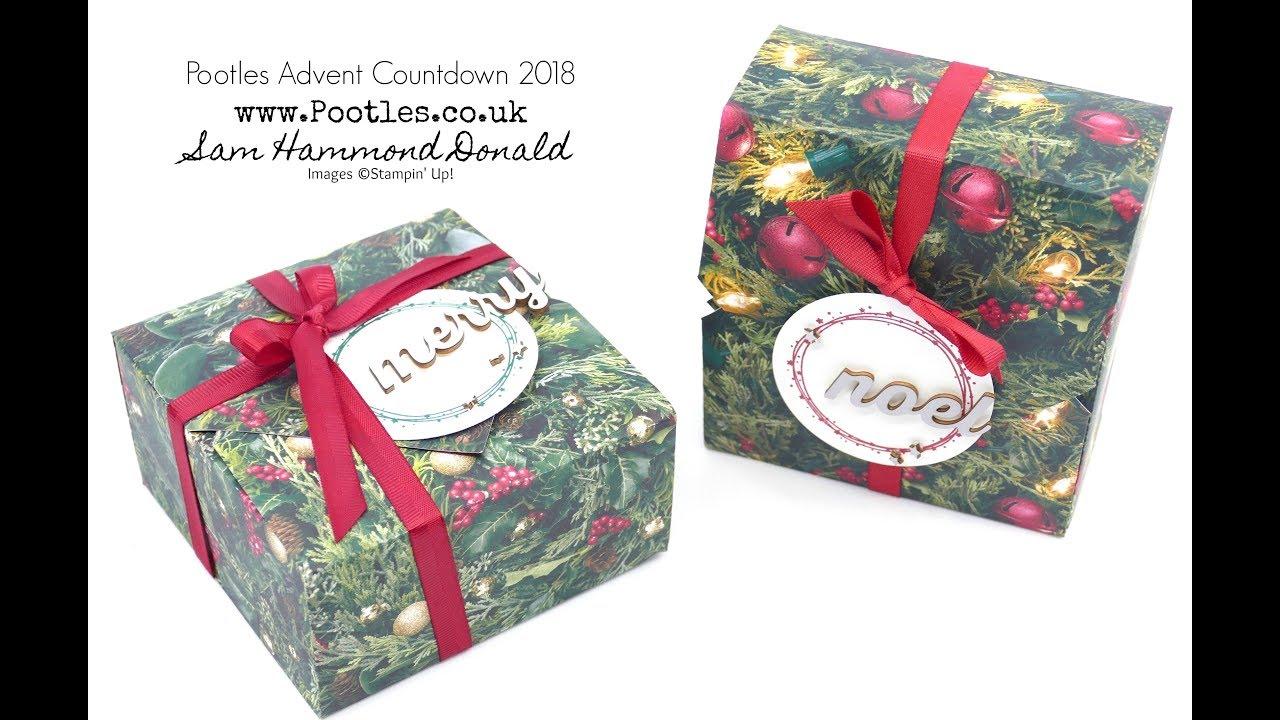 Download Pootles Advent Countdown 2018 #6 No Glue, No Cut Box Tutorial