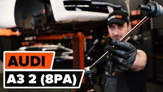Kaip pakeisti priekinių stabilizatoriaus traukė AUDI A3 2 (8PA) [AUTODOC PAMOKA]