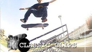 Greg Lutzka Skateboarding Classic Clips #42 San Deguito Rail