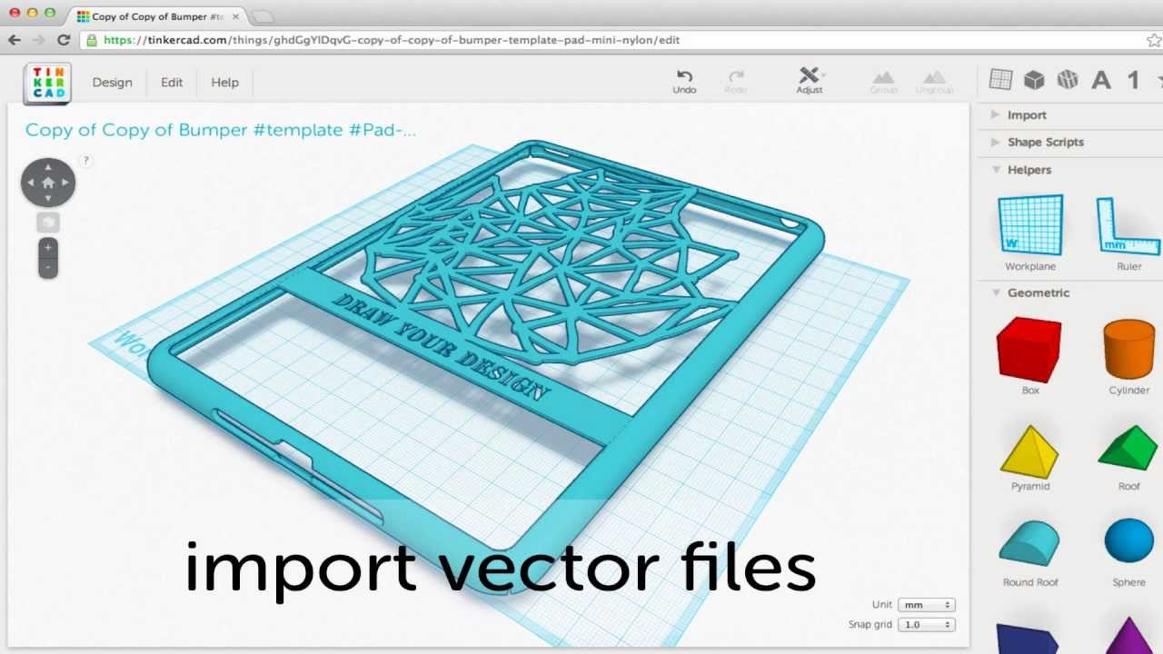 Tinkercad Import Vectors Tutorial Youtube