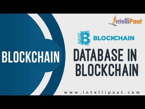 Database in Blockchain | Blockchain Tutorial | Online Blockchain Training | Intellipaat