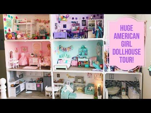 MY HUGE AMERICAN GIRL DOLLHOUSE TOUR!