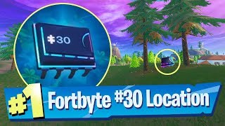 Fortnite Fortbyte #30 Location - Found Somewhere Between Haunted Hills And Pleasant Park
