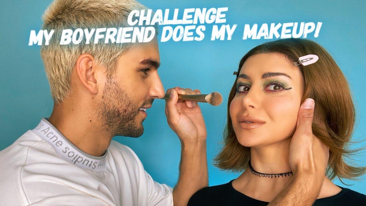 GIVEAWAY: My Boyfriend does my makeup challenge.