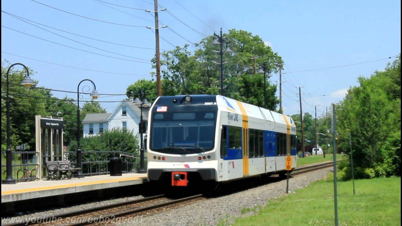 NJ Transit River Line Diesel LRT train at Beverly Edgewater Park