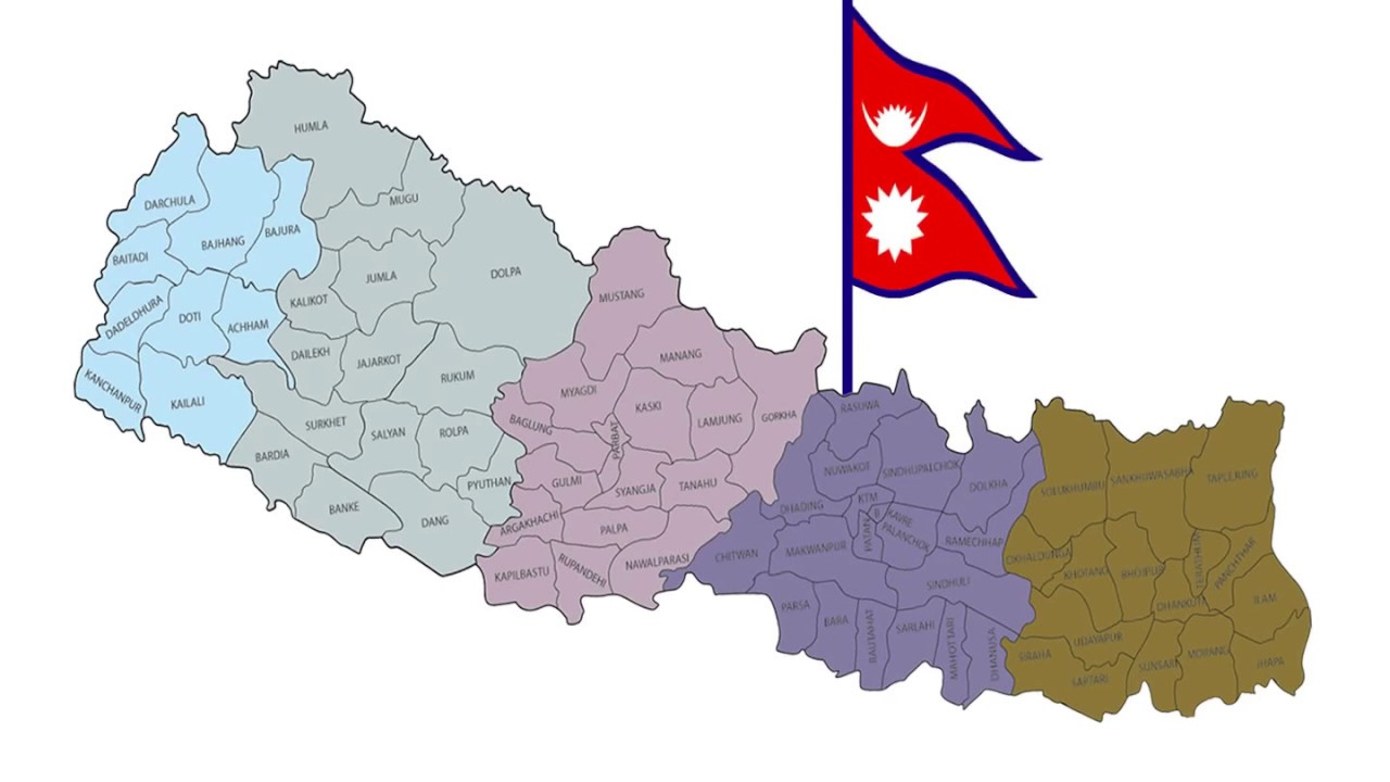 Nepal Map Animation with Flag - YouTube