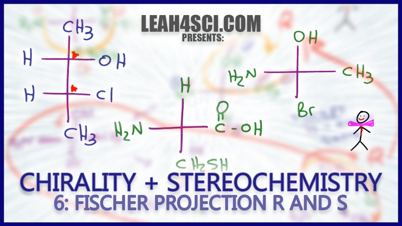 Fischer Projection Stereochemistry How to find R and S configurations FAST:  Chirality Vid 6