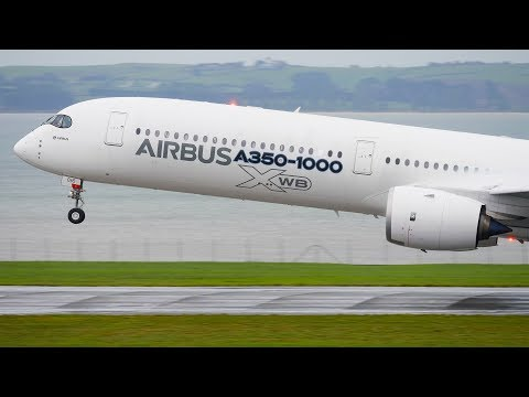 STORMY WEATHER! A350-1000 XWB DEMO FLIGHT Takeoff and Landing | Auckland Airport Plane Spotting [4K]